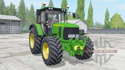 John Deere 6230 wheels configuration для Farming Simulator 2017