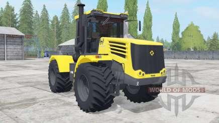 Кировец К-744Р4 жёлтый окрас для Farming Simulator 2017