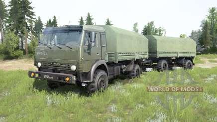 КамАЗ-4350 Мустанг для MudRunner
