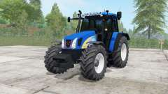 New Holland T5050 science blue для Farming Simulator 2017