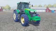 John Deere 7280R caribbean green для Farming Simulator 2013
