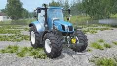 New Holland T6.160 real engine для Farming Simulator 2015
