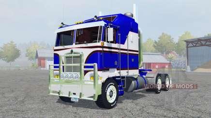 Kenworth K100 medium blue для Farming Simulator 2013