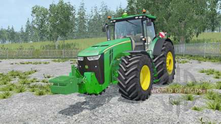 John Deere 8370R with weights для Farming Simulator 2015