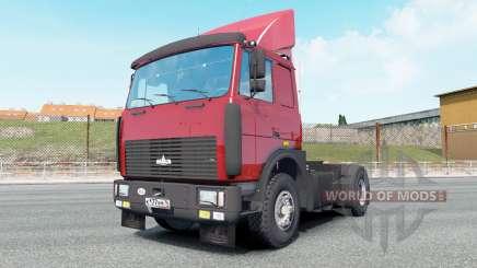 МАЗ-54323 ярко-красный окрас для Euro Truck Simulator 2