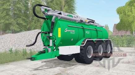 Samson PG II 27 caribbean green для Farming Simulator 2017