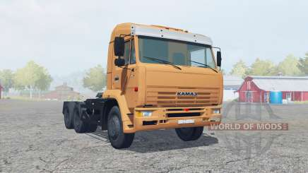 КамАЗ-6460 мягко-оранжевый окрас для Farming Simulator 2013