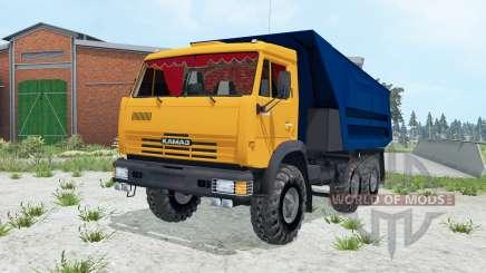 КамАЗ-55111 ярко-оранжевый окҏас для Farming Simulator 2015