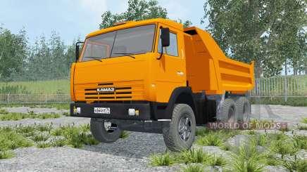 КамАЗ-55111 оранжевый окрас для Farming Simulator 2015