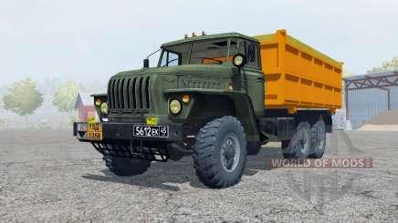 Урал-5557 тёмный серовато-зелёный окрас для Farming Simulator 2013