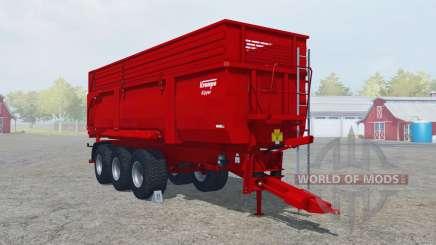 Krampe Big Body 900 S boston university red для Farming Simulator 2013