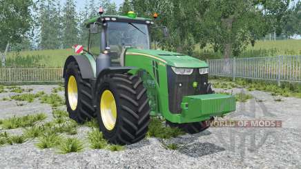 John Deere 8370R sea green для Farming Simulator 2015