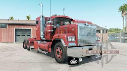 Mack Super-Liner light carmine pink для American Truck Simulator