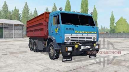 КамАЗ-55102 с прицепом ГКБ-8551 для Farming Simulator 2017