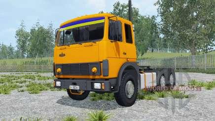 МАЗ-6422 оранжевый окрас для Farming Simulator 2015