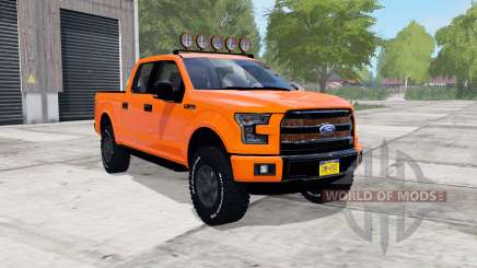 Ford F-150 Lariat SuperCrew 2015 blaze orange для Farming Simulator 2017