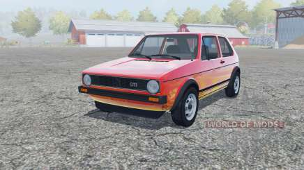 Volkswagen Golf GTI 3-door (Typ 17) 1976 для Farming Simulator 2013