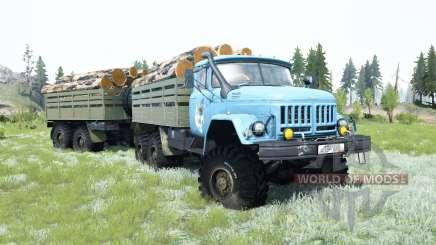 ЗиЛ-131 мягко-голубой окрас для MudRunner