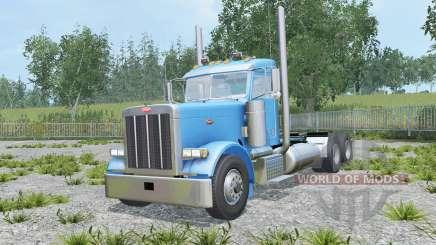 Peterbilt 379 Day Cab spanish sky blue для Farming Simulator 2015