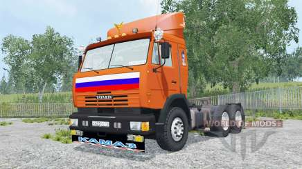 КамАЗ-54115 ярко-оранжевый окрас для Farming Simulator 2015