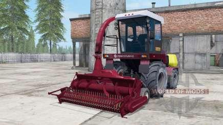 Палессе 2U250А тёмно-умеренно-красный окрас для Farming Simulator 2017