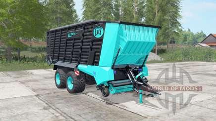 Lely Tigo XR 75 D turquoise blue для Farming Simulator 2017