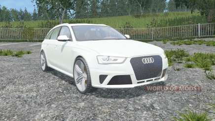 Audi RS 4 Avant (B8) 2012 gainsboro для Farming Simulator 2015