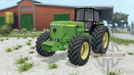 John Deere 4755 wheel options для Farming Simulator 2015