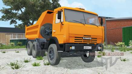 КамАЗ-55111 ярко-оранжевый окрас для Farming Simulator 2015