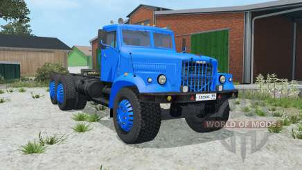КрАЗ-258 синий окрас для Farming Simulator 2015