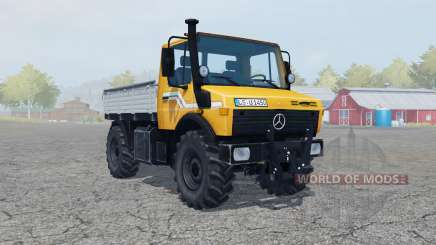 Mercedes-Benz Unimog U1450 (Br.427) vivid orange для Farming Simulator 2013