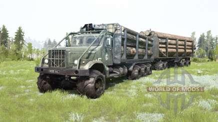 КрАЗ-255Б 8x8 тёмно-серовато-зелёный окрас для MudRunner