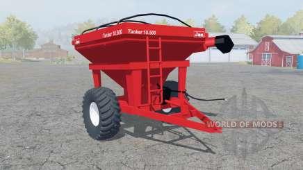 Jan Tanker 10.500 coral red для Farming Simulator 2013
