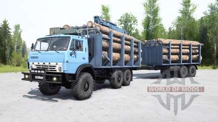 КамАЗ-4310 мягко-синий окрас для MudRunner