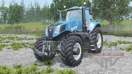 New Holland T8.320 real engine для Farming Simulator 2015