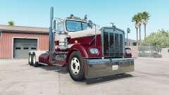 Kenworth W900A bordeaux для American Truck Simulator