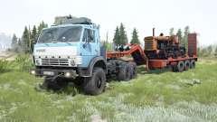 КамАЗ-4310 мягко-голубой окрас для MudRunner