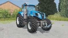 New Holland T8.320 lowering tire pressure для Farming Simulator 2015