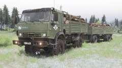 КамАЗ-4350 камуфляжно-зелёный окрас для Spin Tires