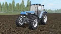 New Holland 8340 spanish sky blue для Farming Simulator 2017