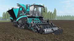 Grimme Maxtron 620 turquoise blue для Farming Simulator 2017