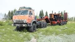 КамАЗ-4310 мягко-красный окрас для MudRunner