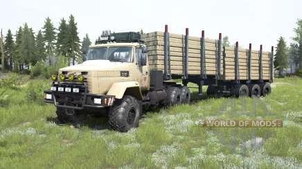 КрАЗ-6322 мягко-оранжевый окрас для MudRunner