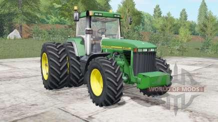 John Deere 8400&8410 north texas green для Farming Simulator 2017