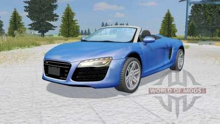 Audi R8 V10 Spyder ocean boat blue для Farming Simulator 2015