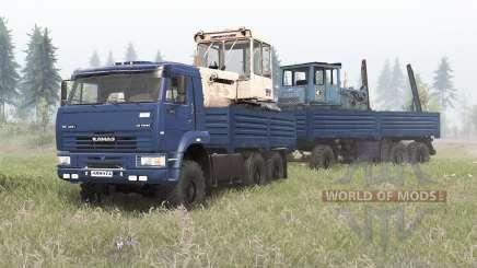 КамАЗ-6522 тёмно-синий окрас для Spin Tires