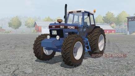 Ford 8630 Powershift cyan cornflower blue для Farming Simulator 2013