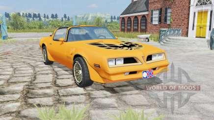 Pontiac Firebird Trans Am 1977 yellow orange для Farming Simulator 2015