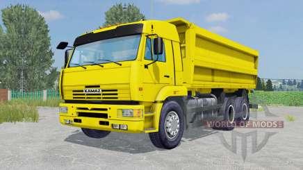 КамАЗ-45143 жёлтый окрас для Farming Simulator 2015
