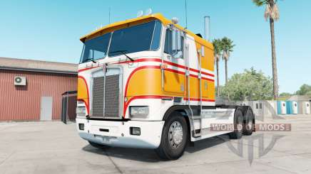 Kenworth K100E yellow orange для American Truck Simulator